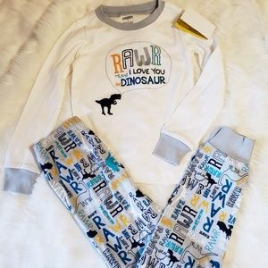 "NWT Super cute boys ""dinosaur"" PJ's size 5"